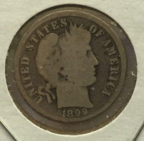 1899 P Barber Dime
