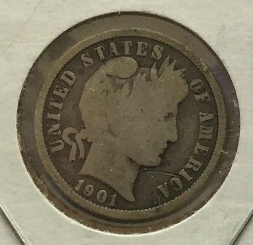 1901 O Barber Dime