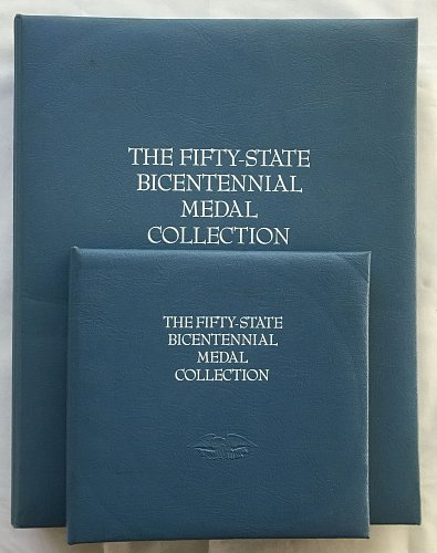 1976 Franklin Mint 50 State Bicentennial Silver Medal Collection COA