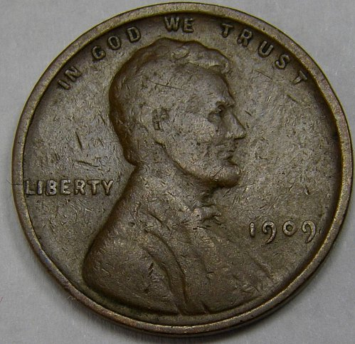 "1909 P Lincoln Wheat Cent #2 Doubling on ""LIBERT"""