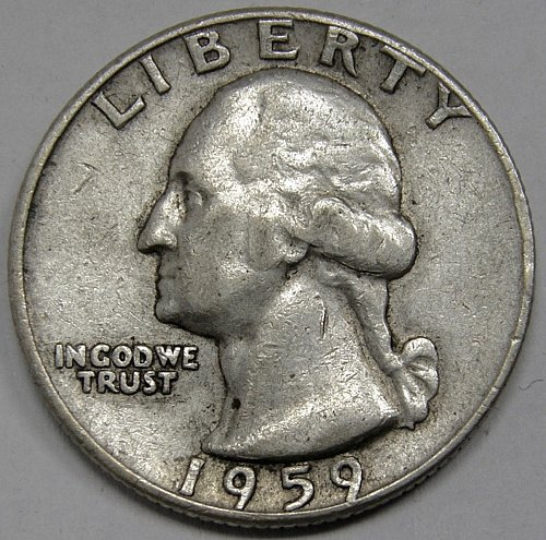 1959 D Washington Quarter #1