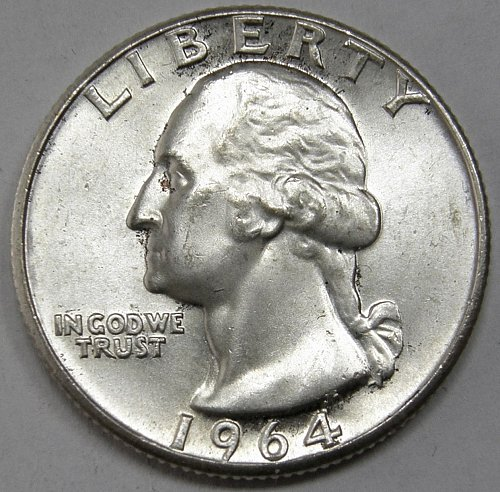 1964 P Washington Quarter #5
