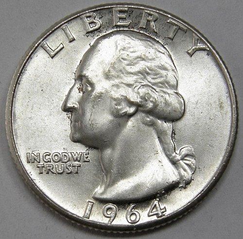 1964 P Washington Quarter #5