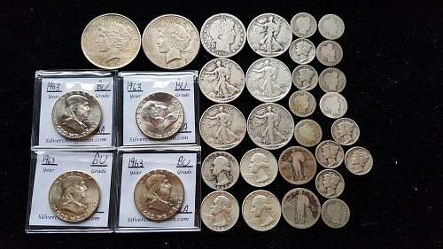 Huge Lot of Silver US Coins