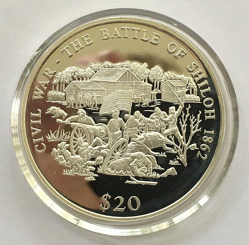 2000 Republic of Liberia 20 Dollars .999 Fine Silver