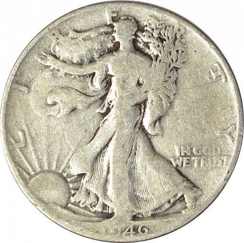 1946 Walking Liberty Half Dollar,  (Item 121)