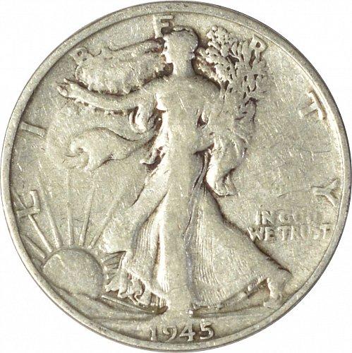 1945 S Walking Liberty Half Dollar,  (Item 127)