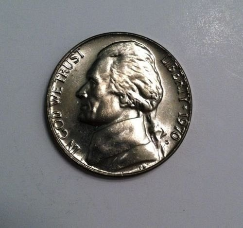 1970 D gem b/u nickel