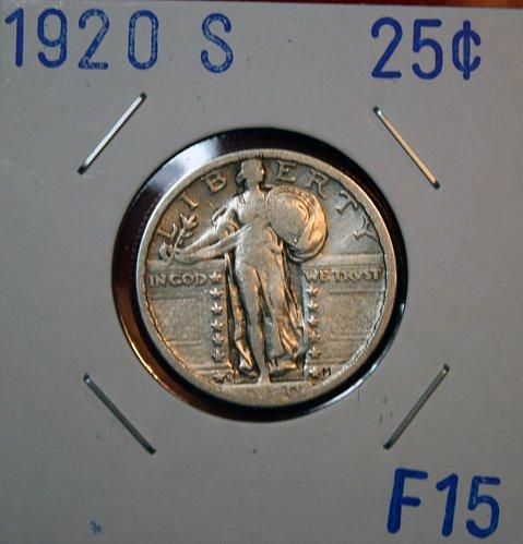 1920 S STANDING LIBERTY QUARTER