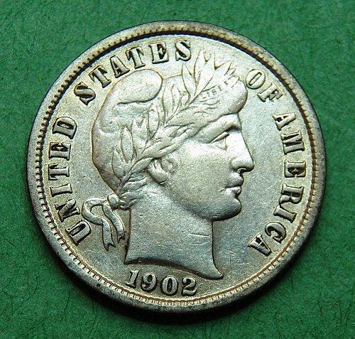 1902 P Barber Dime extra Fine Coin   e57