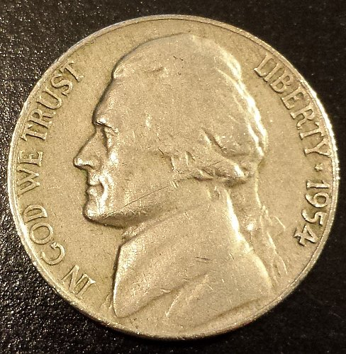 1954 Jefferson Nickel (6204)