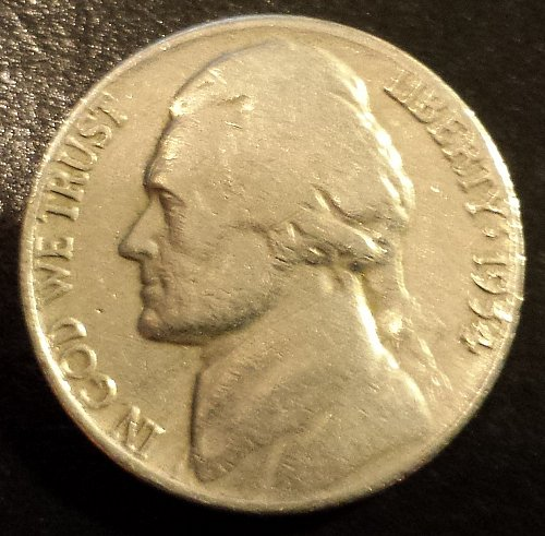 1954-D Jefferson Nickel (6205)