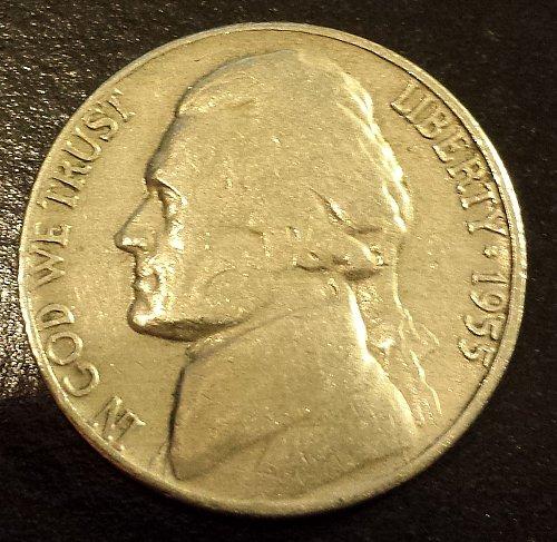 1955-D Jefferson Nickel (6206)