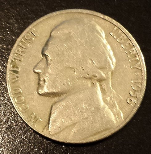 1956-D Jefferson Nickel (6209)