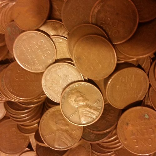 Wheat pennies 1940's and 1950's