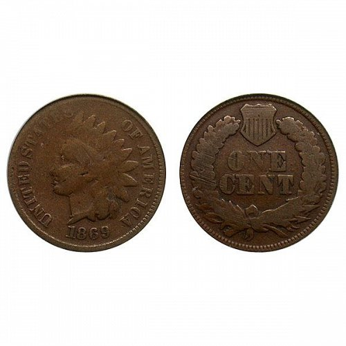 1869 Indian Head Cent - Good