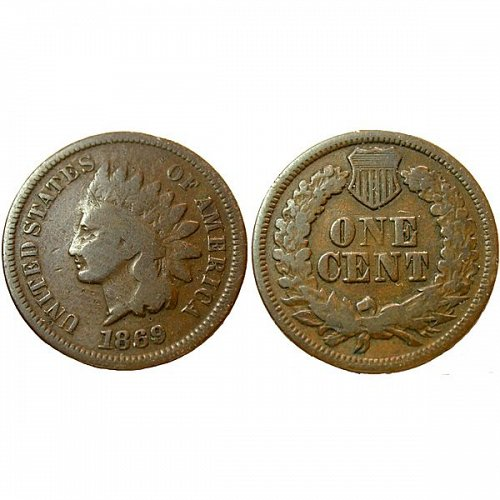 1869 Indian Head Cent - VG