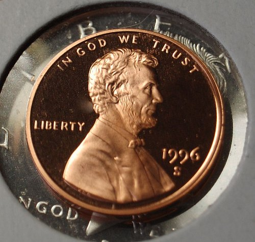 1996 S Lincoln Memorial Cent Proof - Ultra (Deep) Cameo