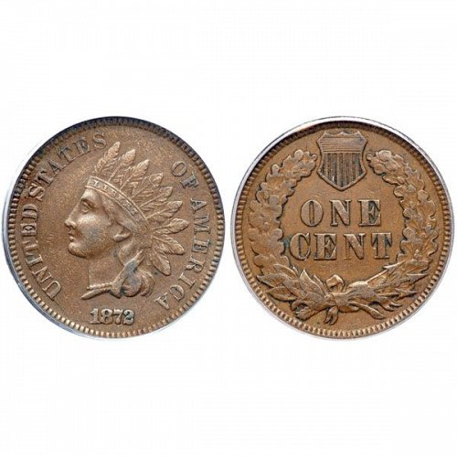 1872 Indian Head Cent - XF