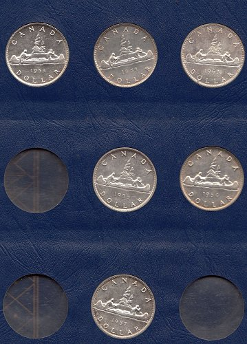 Canadian Silver Dollar Collection of 26 coins-  Silver   /  MC-10