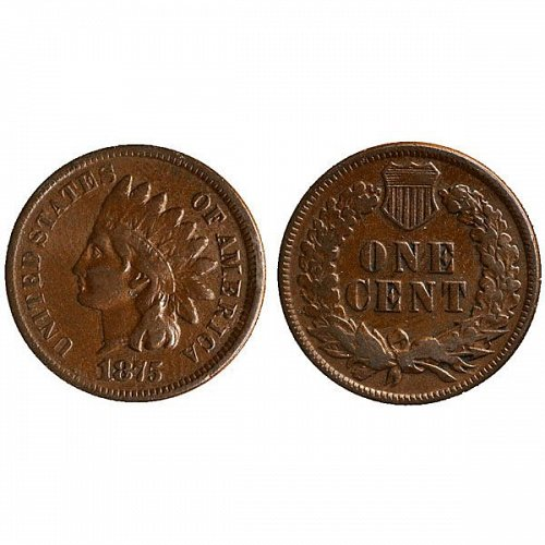 1875 Indian Head Cent - Fine