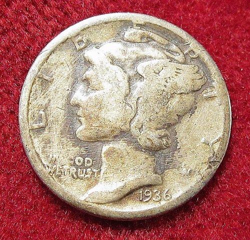 1936 mercury Dime Phelidelphia