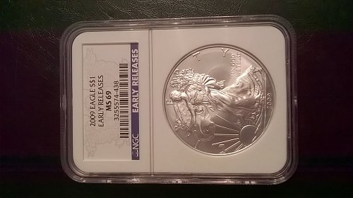 2009 Silver Eagle NGC MS-69