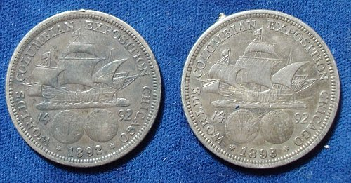 1892 and 1893 Columbian Halves, VF and XF