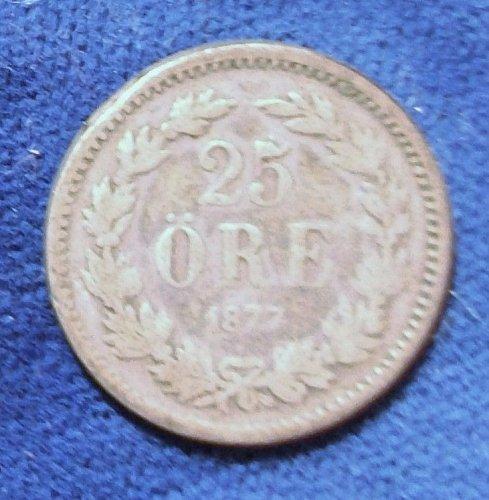 1877EB Sweden 25 Ore Good