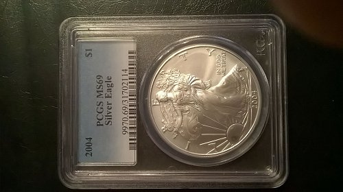 2004 Silver Eagle PCGS MS-69