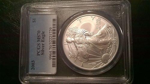 2003 Silver Eagle PCGS MS-70