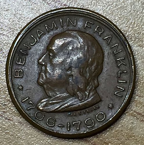 1706-1790 ben.franklin souvenir coin