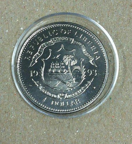 1993 liberia dollar NOLAN RYAN coin