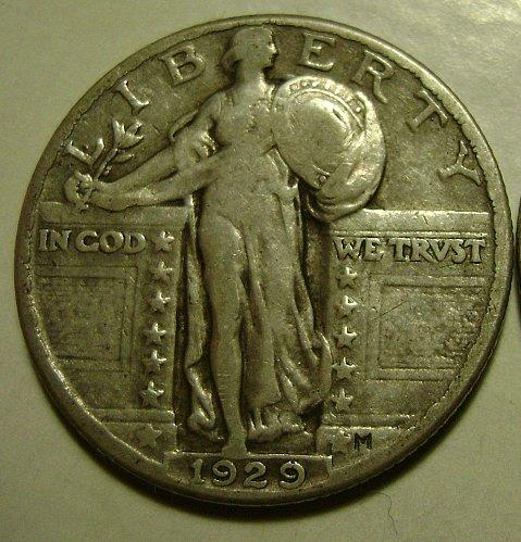 1929 F Fine Standing Liberty Quarter Free Shipping