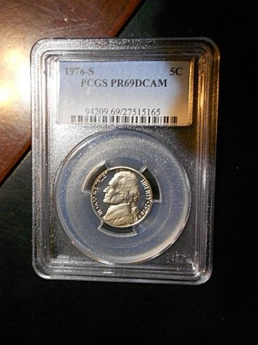 1976-s  Jefferson Nickel    PCGS  PR69 DCAM