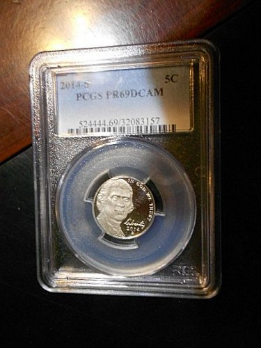 2014-s    Jefferson Nickel    PCGS  PR69 DCAM
