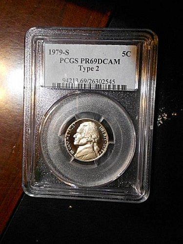 1979-s  Type 2  Jefferson Nickel      PCGS   PR69  DCAM