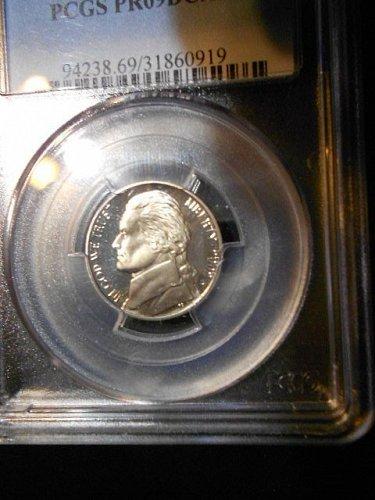 2002-s  Jefferson Nickel     PCGS   PR69 DCAM