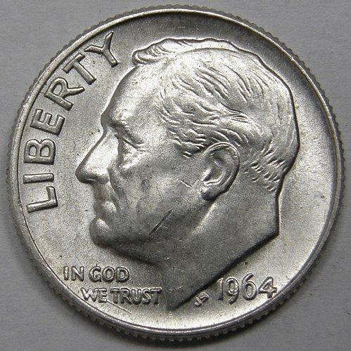 1964 D Roosevelt Dime #2