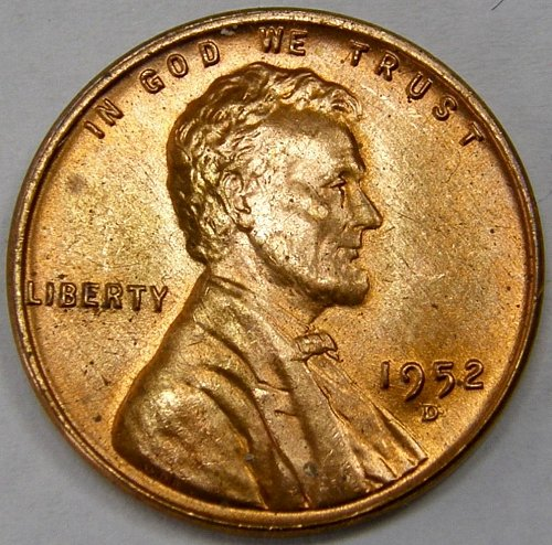 1952 D Lincoln Wheat Cent #7
