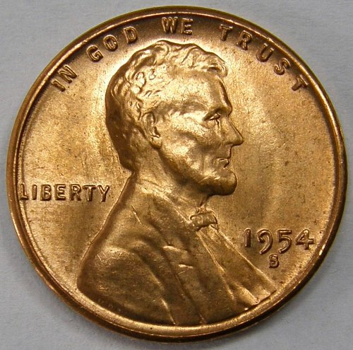 1954 S Lincoln Wheat Cent #7