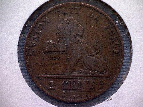1844 BELGIUM TWO CENTIMES