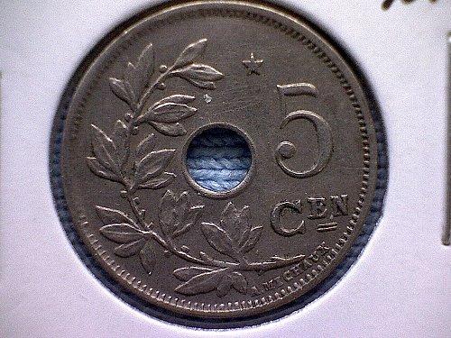 1931 BELGIUM FIVE CENTIMES