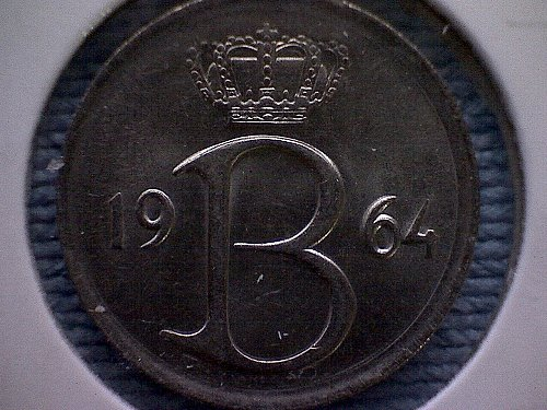 1964 BELGIUM TWENTY-FIVE CENTIMES