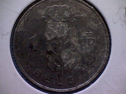 1958 BELGIUM ONE FRANC