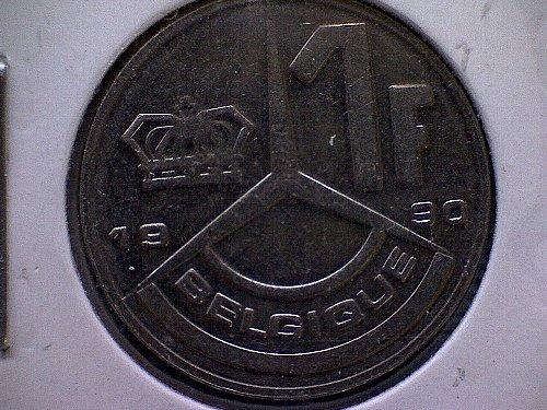 1990 BELGIUM ONE FRANC