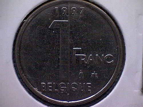 1997 BELGIUM ONE FRANC