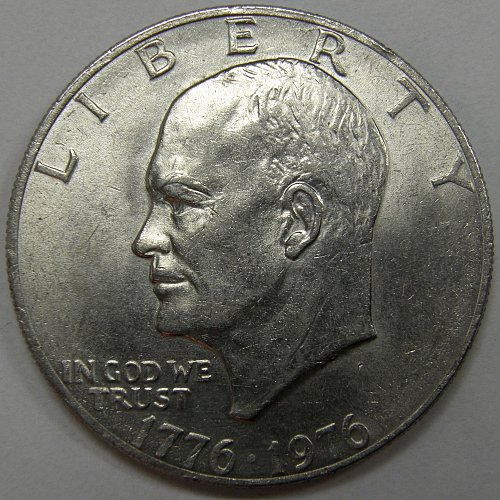 1976 P Eisenhower Dollars: Type 2  #3