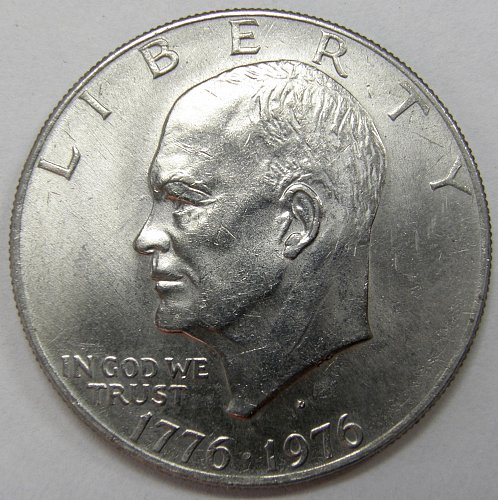 1976 D Eisenhower Dollars: Type 2 #2