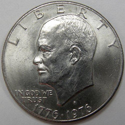 1976 D Eisenhower Dollars: Type 2 #3